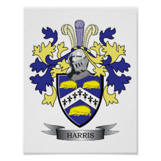 Harris Coat of Arms Poster
