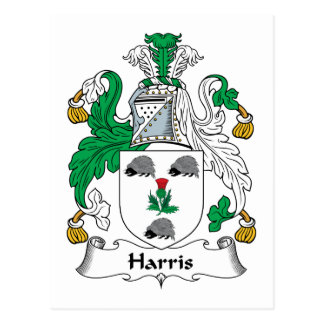 Harris Family Crest Postcard