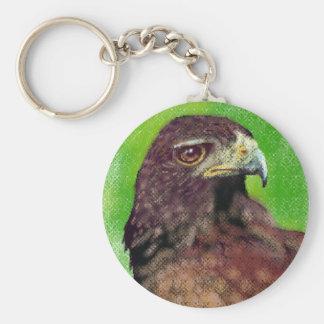 Harris Hawk 5.7 cm Basic Button Key Ring