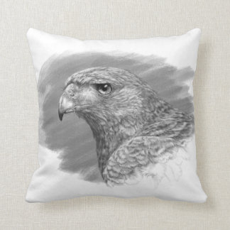 Harris Hawk Drawing Cushion