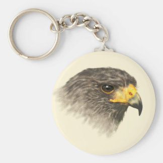 Harris Hawk - Mixed Medium Key Ring