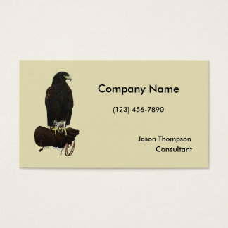 Harris Hawk on Glove Business Card