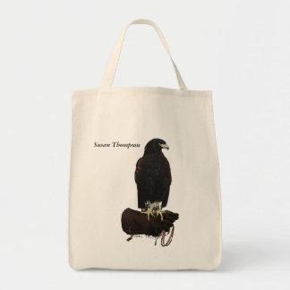 Harris Hawk on Glove Tote Bag