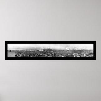 Harrisburg PA Steel Company Photo 1909 Poster