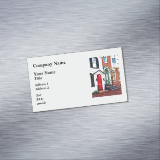 Harrisburg PA - Two Doors Magnetic Business Cards