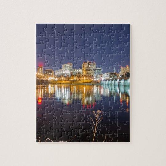 harrisburg pennsylvania skyline Dauphin County Jigsaw Puzzle