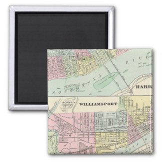 Harrisburg, Williamsport, Erie, Scranton Square Magnet
