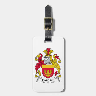 Harrison Family Crest Luggage Tag