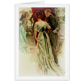 Harrison Fisher Girl When Man Marries To the Ball Card