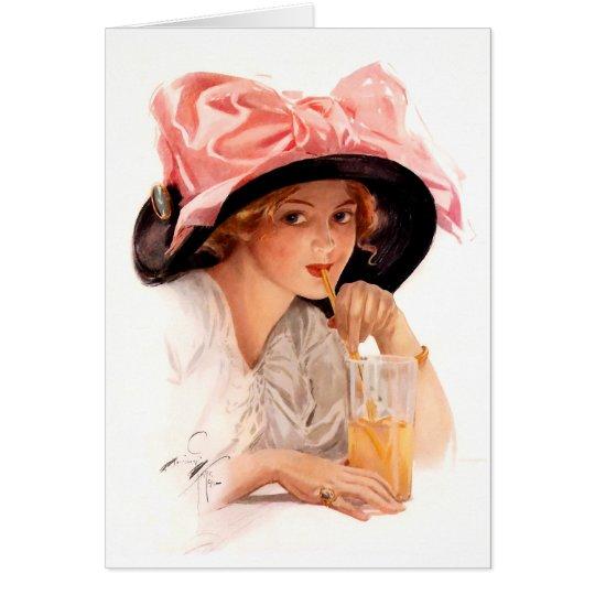 Harrison Fisher: Refreshment Card
