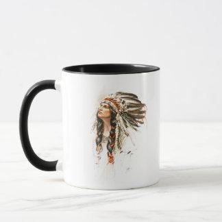 Harrison Fisher Song Hiawatha Indian head dress 1 Mug