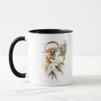 Harrison Fisher Song Hiawatha Indian head dress 2 Mug