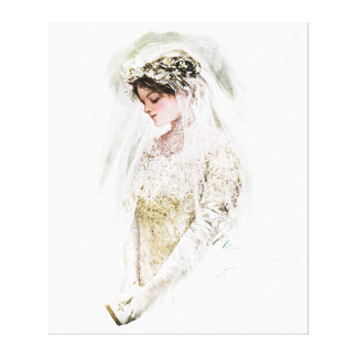 Harrison Fisher: The Bride Stretched Canvas Prints