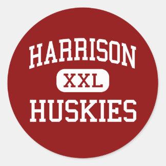 Harrison - Huskies - High - Harrison New York Classic Round Sticker