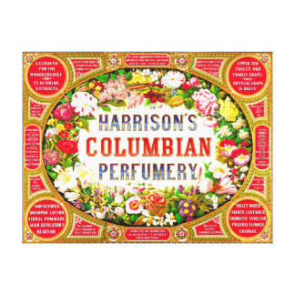 Harrison's Columbian Perfumery 1854 Canvas Print