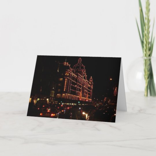 Harrods for the Holidays Christmas Card