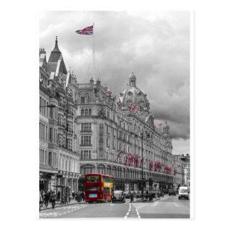 Harrods of Knightsbridge bw hdr Postcard