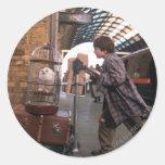 Harry and Hedwig Platform 9 3/4 Round Sticker