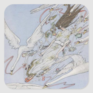 Harry Clarke Wild Swans Square Sticker