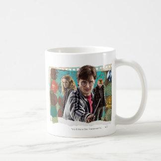Harry, Hermione, and Ron 1 Basic White Mug