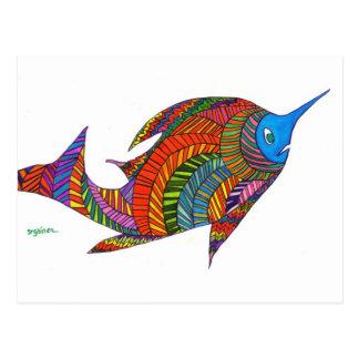 Harry Herringbone Fish Postcard
