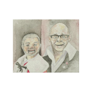 Harry Hill and Lord Alan Sugar puppet Canvas Print