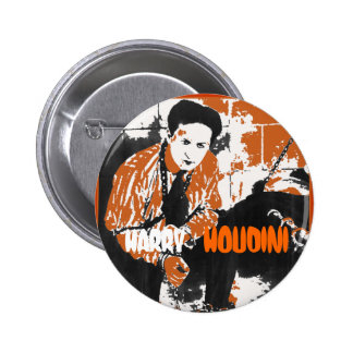 HARRY HOUDINI Black and Orange Art Illustration Buttons