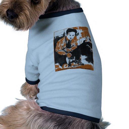 HARRY HOUDINI Black and Orange Art Illustration Doggie T Shirt