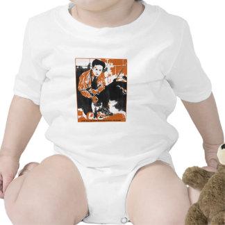 HARRY HOUDINI Black and Orange Art Illustration Shirt