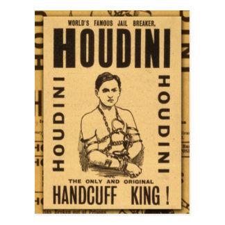 Harry Houdini, Handcuff King! Postcard