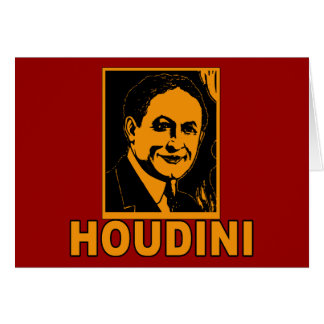 Harry Houdini Poster T shirts, Mugs, Gifts Greeting Card