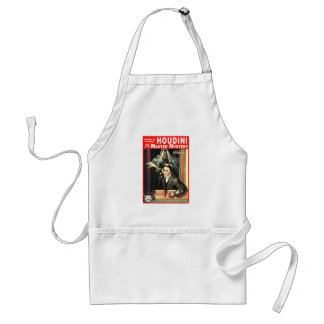 Harry Houdini Pulp Fiction Style Illustration Adult Apron