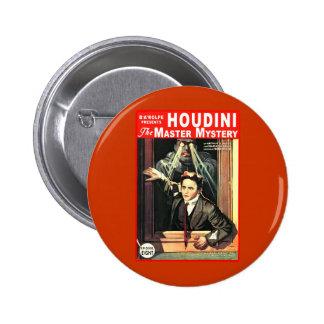 Harry Houdini Pulp Fiction Style Illustration Button