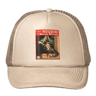 Harry Houdini Pulp Fiction Style Illustration Mesh Hats
