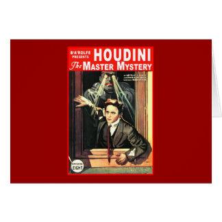 Harry Houdini Pulp Fiction Style Illustration Greeting Card