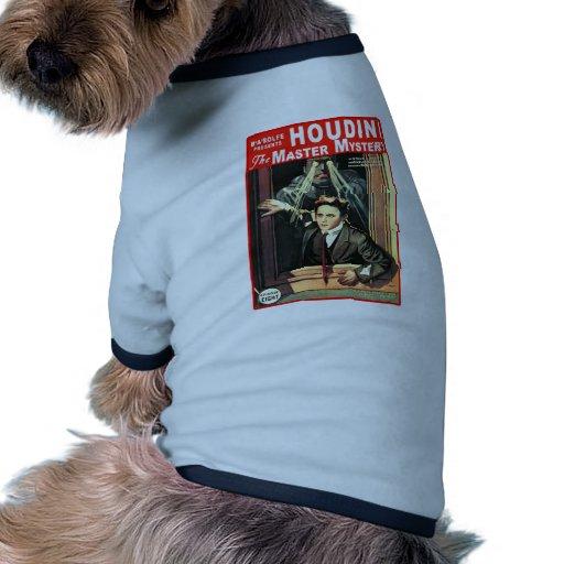 Harry Houdini Pulp Fiction Style Illustration Doggie Tee