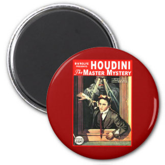 Harry Houdini Pulp Fiction Style Illustration Fridge Magnet