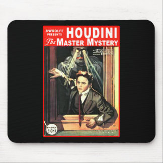 Harry Houdini Pulp Fiction Style Illustration Mousepad