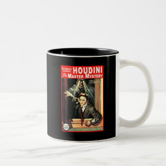 Harry Houdini Pulp Fiction Style Illustration Two-Tone Coffee Mug