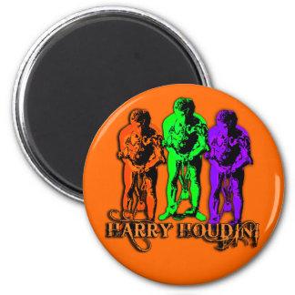 Harry Houdini Triple Image Fridge Magnet