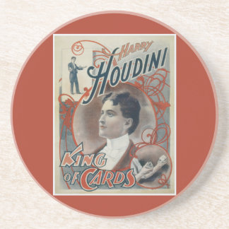 Harry Houdini Vintage Magician Poster Beverage Coaster