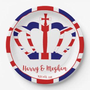 Harry u0026 Meghan Crown | Royal Wedding Celebration Paper Plate  sc 1 st  Zazzle & Paper Plates u0026 Disposable Plate Designs | Zazzle.com.au
