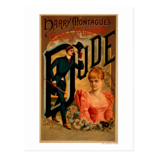 "Harry Montague's Comedy ""Dude"" Theatre Poster Postcard"