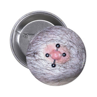 harry nipple piercing 6 cm round badge