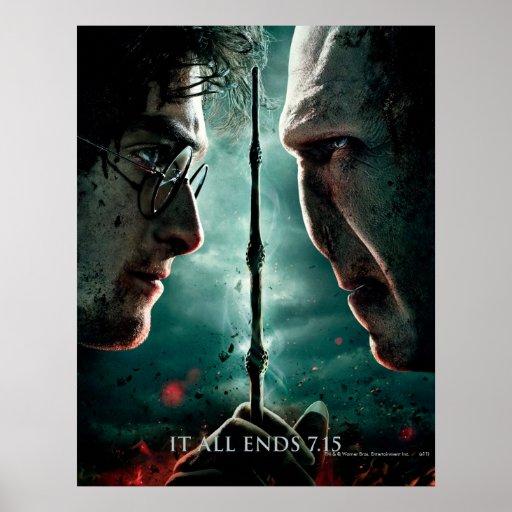 Harry Potter 7 Part 2 - Harry vs. Voldemort Poster | Zazzle