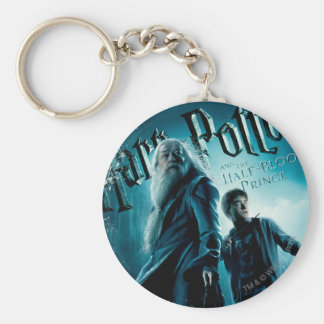 Harry Potter and Dumbledore on rocks 1 Basic Round Button Key Ring