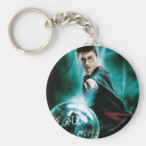 Harry Potter and Voldemort Only One Can Survive Keychains