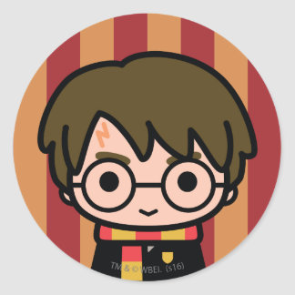 Harry Potter Cartoon Character Art Classic Round Sticker