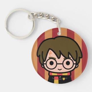Harry Potter Cartoon Character Art Double-Sided Round Acrylic Key Ring