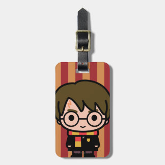 Harry Potter Cartoon Character Art Luggage Tag